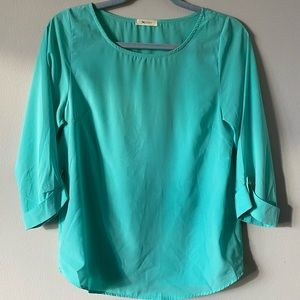 Teal Blouse with 3/4 Sleeves